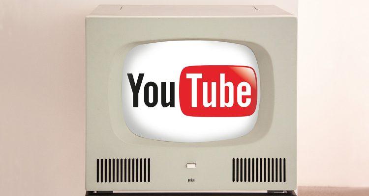 Röhrenfernseher mit YoutTube-Logo