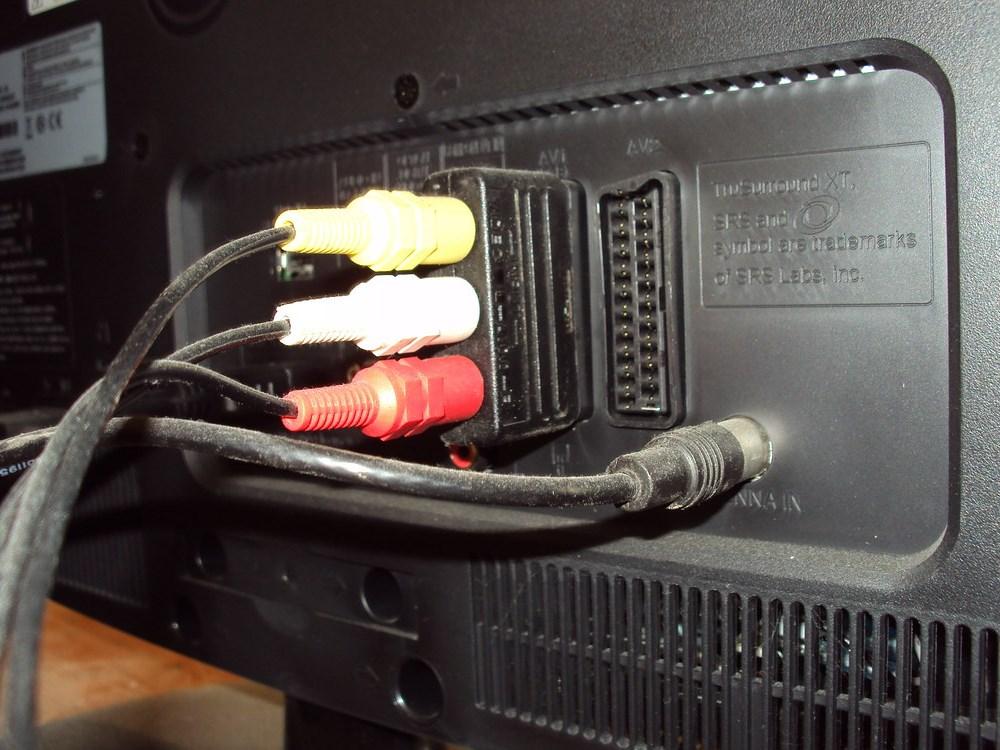 SCART aansluiting op een televisie