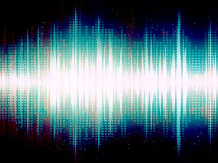 Visualisierte Klangwelle