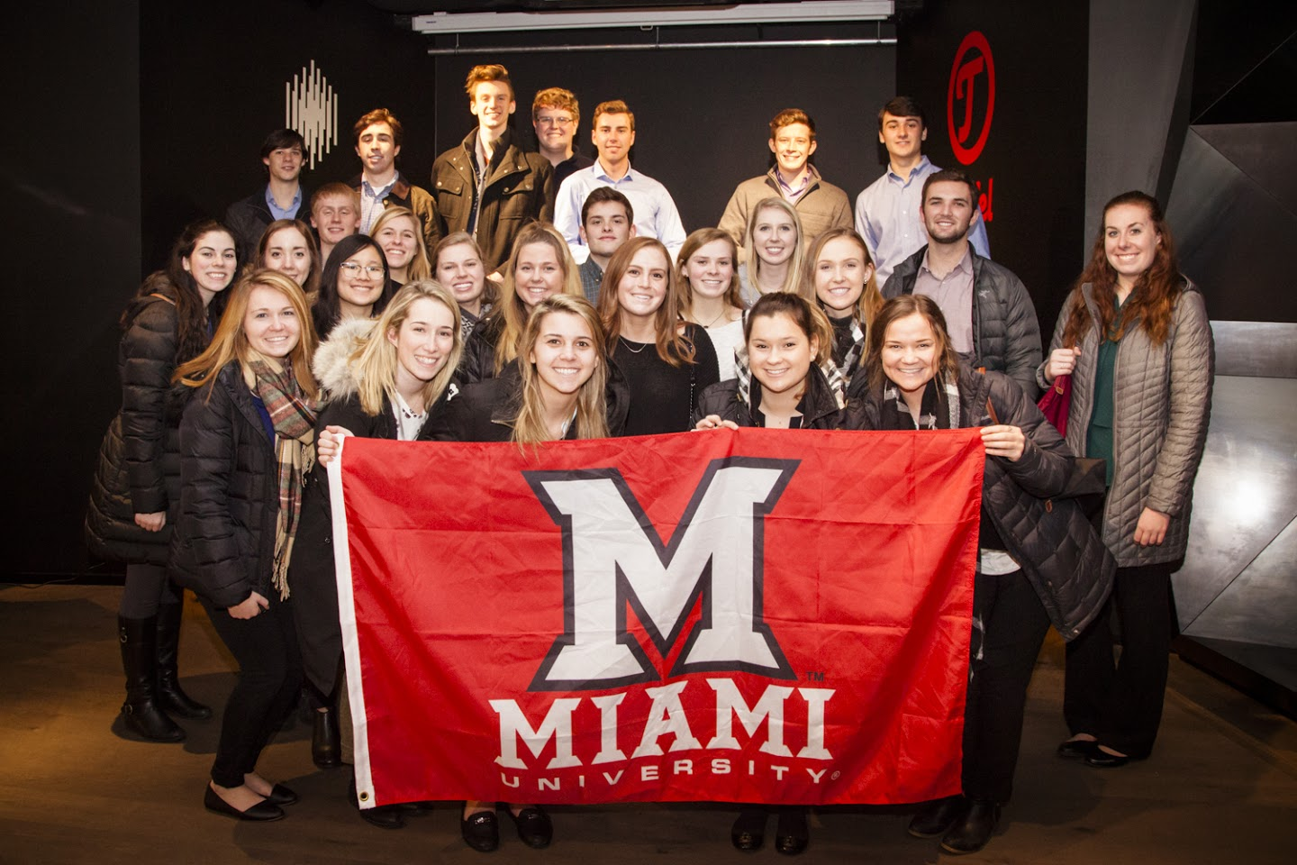 Miami University students in the Teufel Audio Flagship Store
