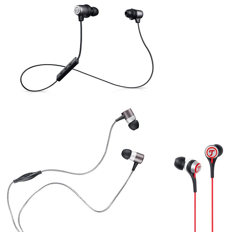 verschiedene In-Ear-Kopfhörer von Teufel, die regelmäßig gereinigt werden sollten