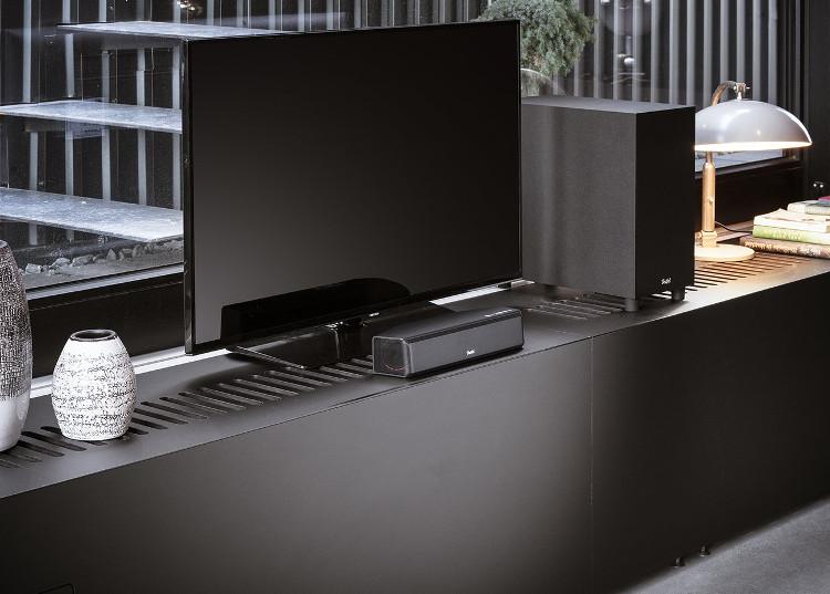 Die Cinebar One mit Subwoofer ist sehr gut als PC- und Notebook-Lautsprecher zu Hause einsetzbar.