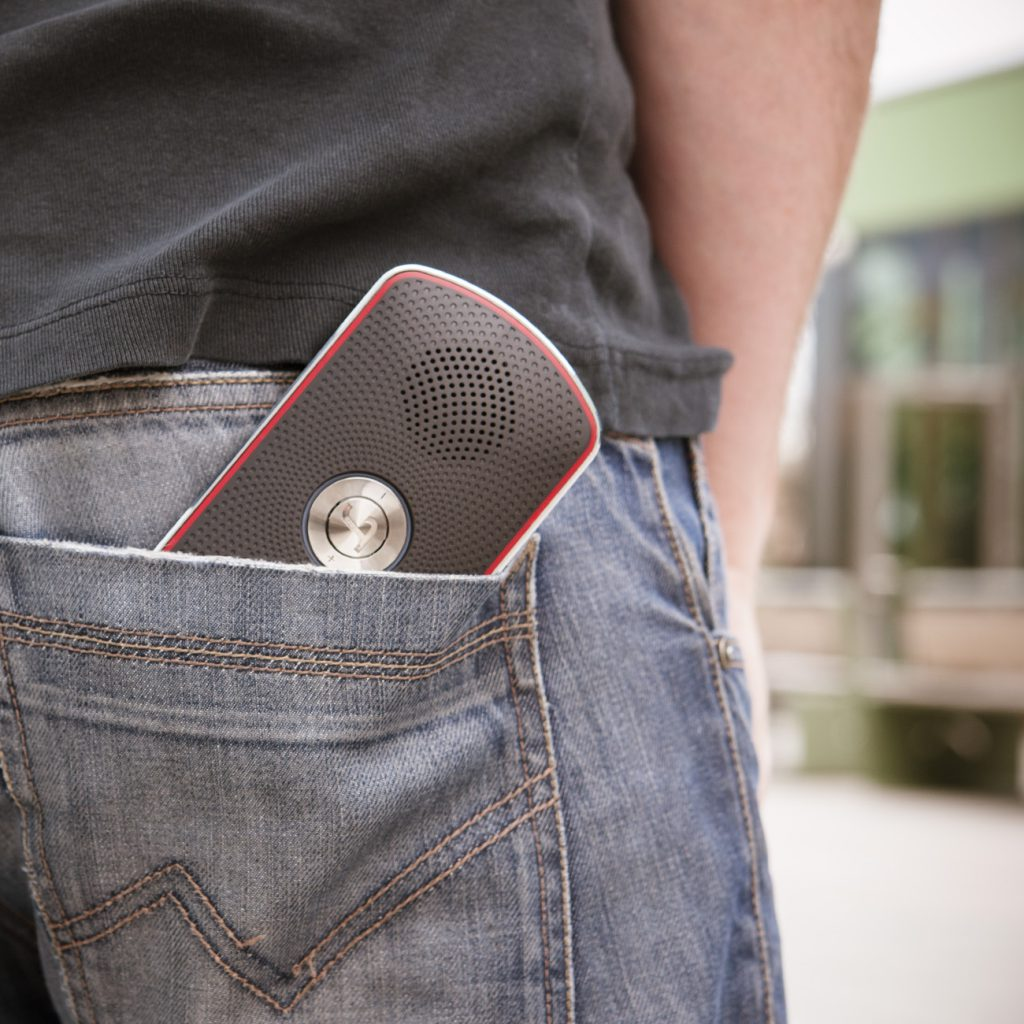 the BAMSTER XS pocket-size speaker for smartphones