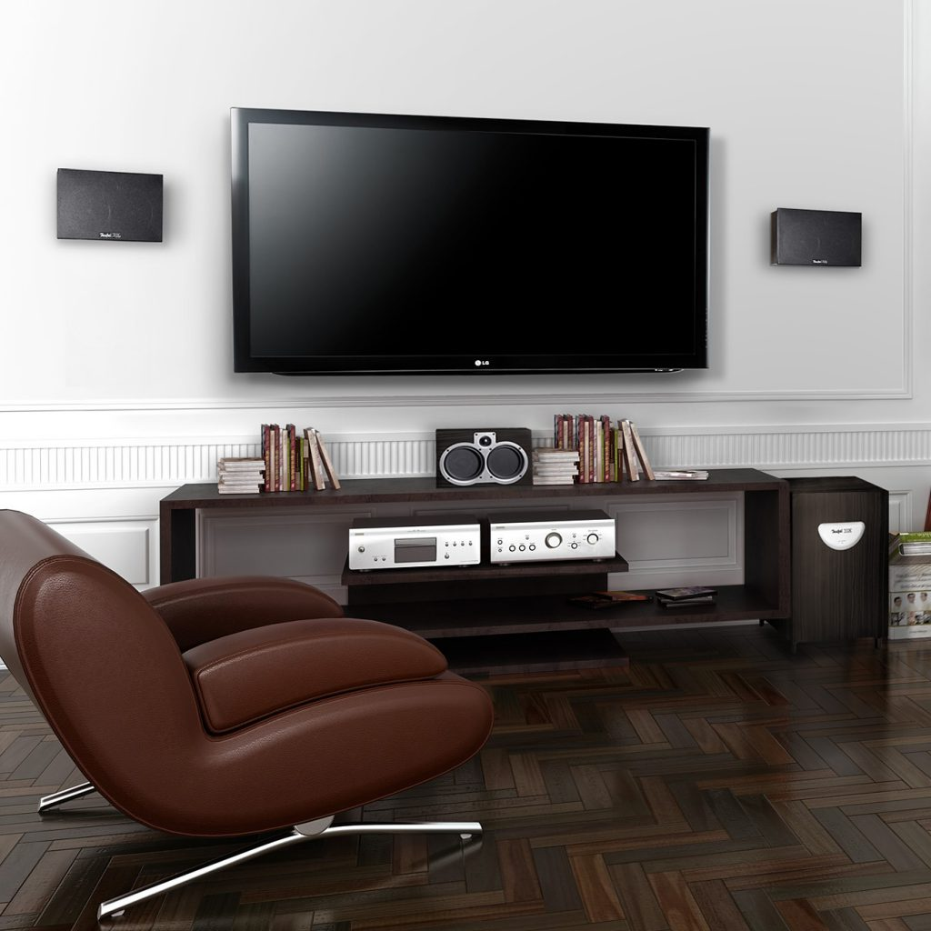 Teufel System 5 front speakers and center speaker