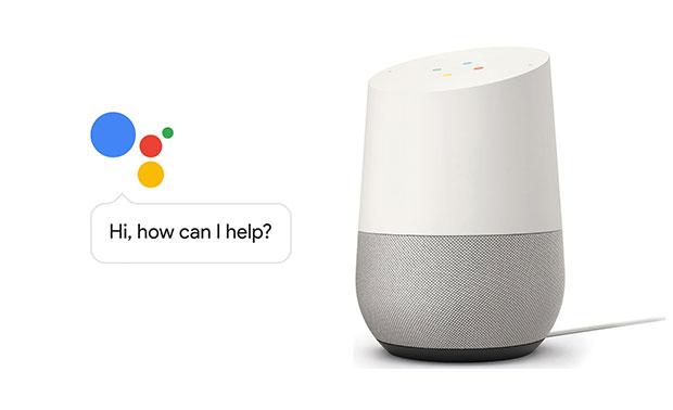 Google Home Speaker - Sprachsteuerung, aber noch mit schwachem Sound.