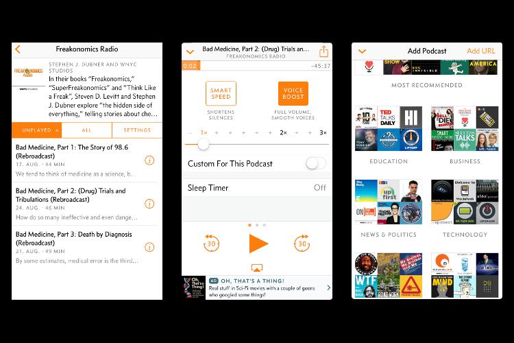 Eine der beliebtesten Podcast-Apps für Apple-Geräte