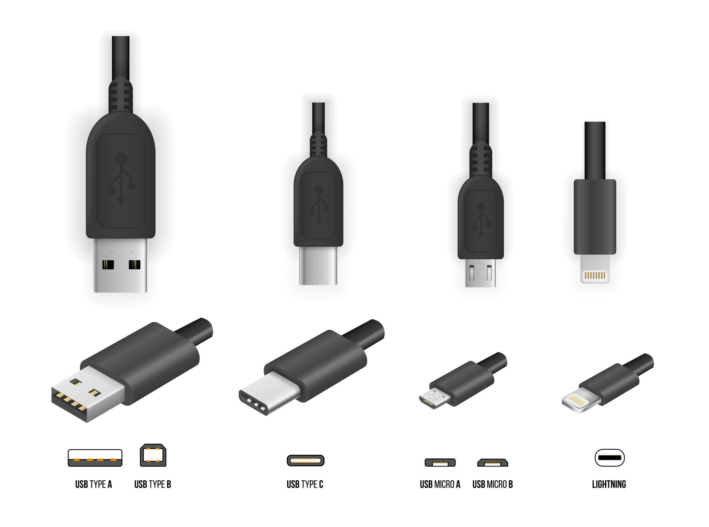 Grafik zu verschiedenen USB-Steckverbindungen