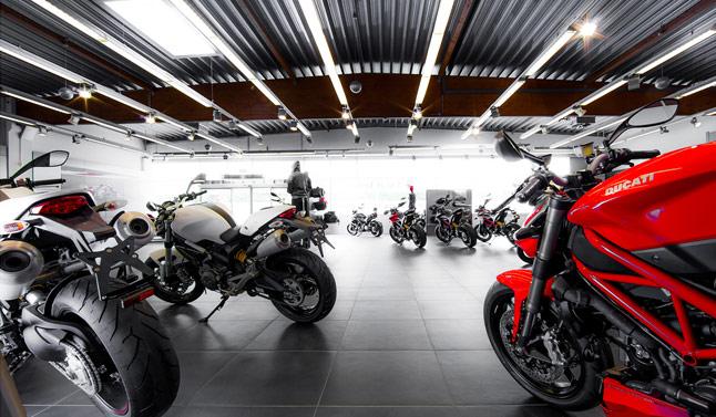 Der Ducati Hauptstadt Flagship Store