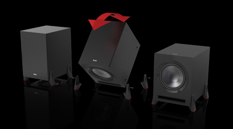 Graphic of the T 10 subwoofer in different operating modes
