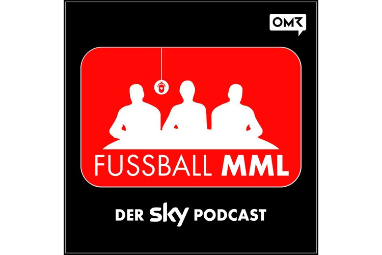 Rot weißes Logo des Fußball-Podcasts MML