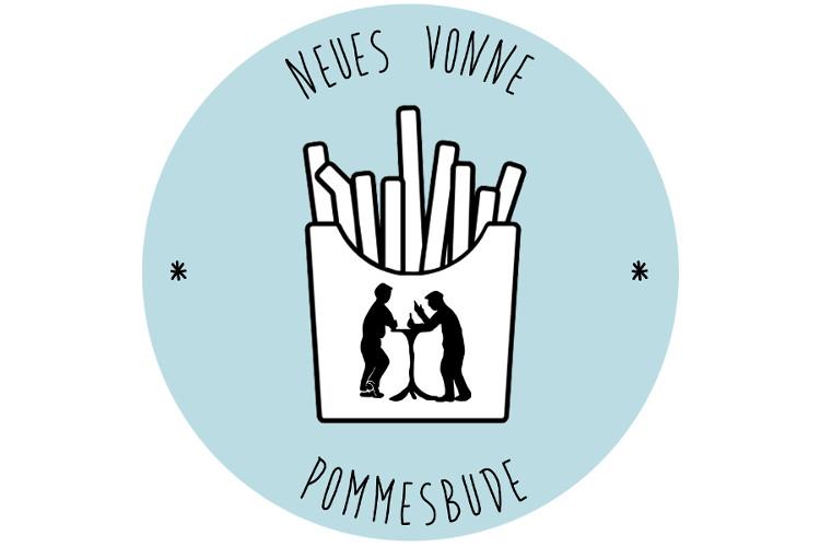 Logo des Podcasts Neues vonne Pommesbude mit stilisierter Pommestüte und Pommes
