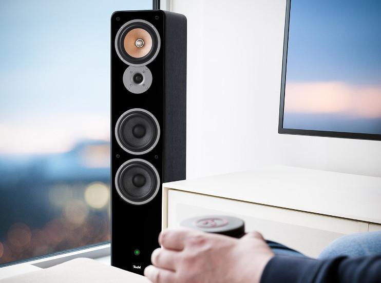 Die Ultima 40 eignen sich sehr gut als Aktiv-Lautsprecher für TV Geräte.