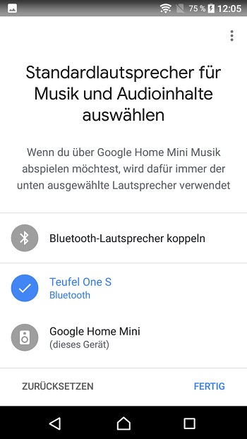 Google Home device settings 2