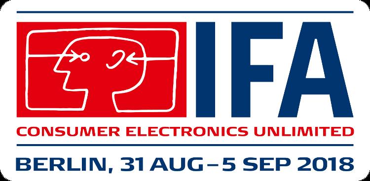 Das Logo der IFA 2018 mit Datum.