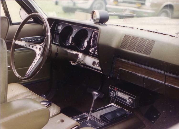 Het interieur van een Amerikaanse auto