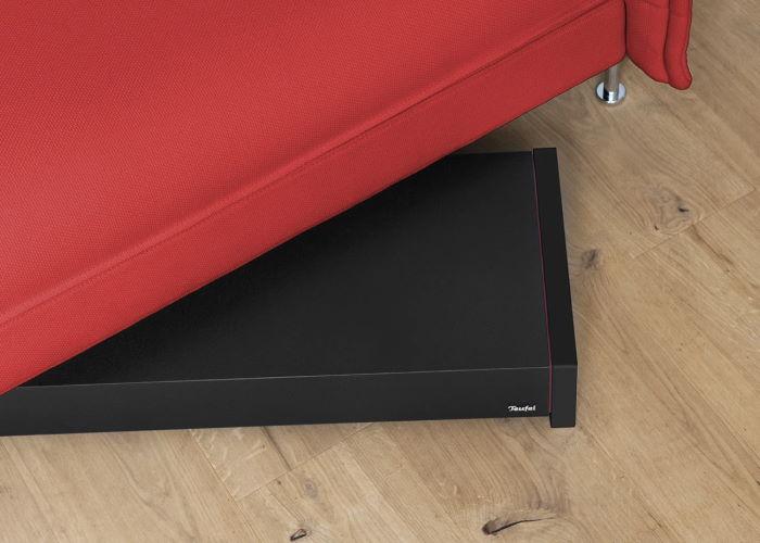 T 4000 Flach-Subwoofer unter Sofa