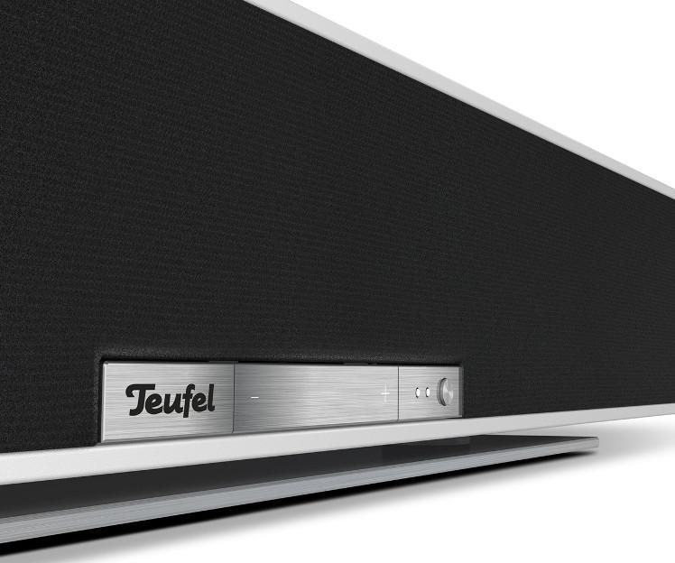 Multiroom-fähige Streaming-Soundbar von Teiufel mit weißem Gehäuse