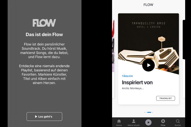 Zwei Screenshots aus der Deezer Mobile-App