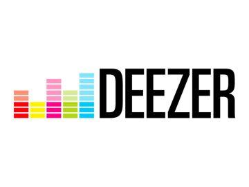 Das Deezer-Logo mit Equalizer-Symbolen.