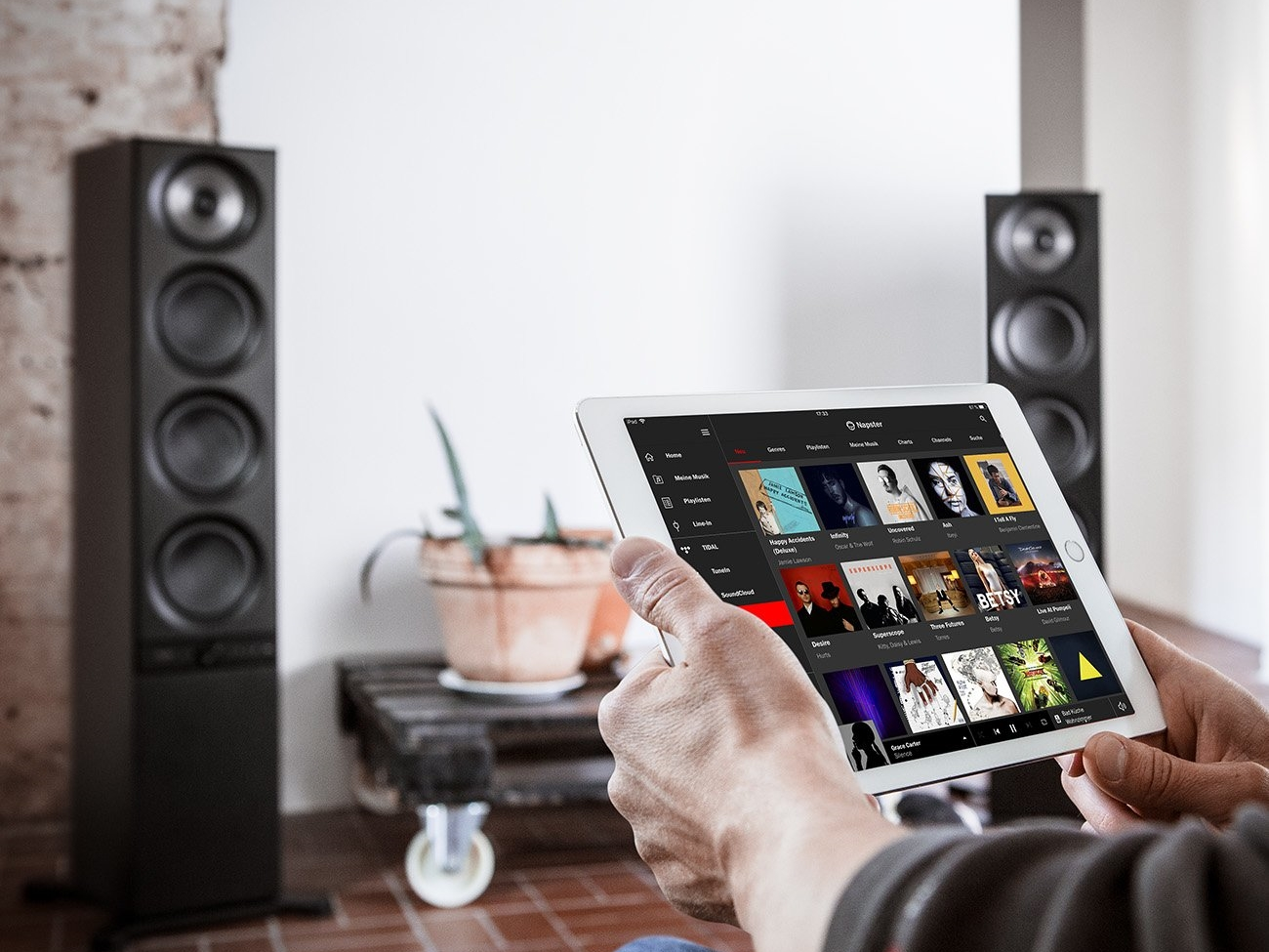 Teufel Stereo L: Streaming mit Napster
