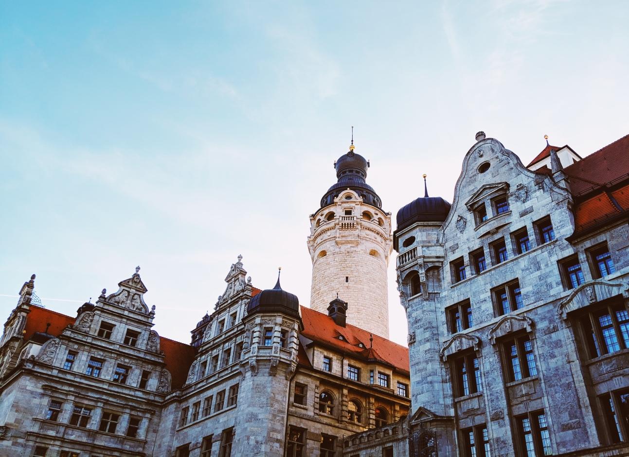 Das Neue Rathaus von Leipzig.