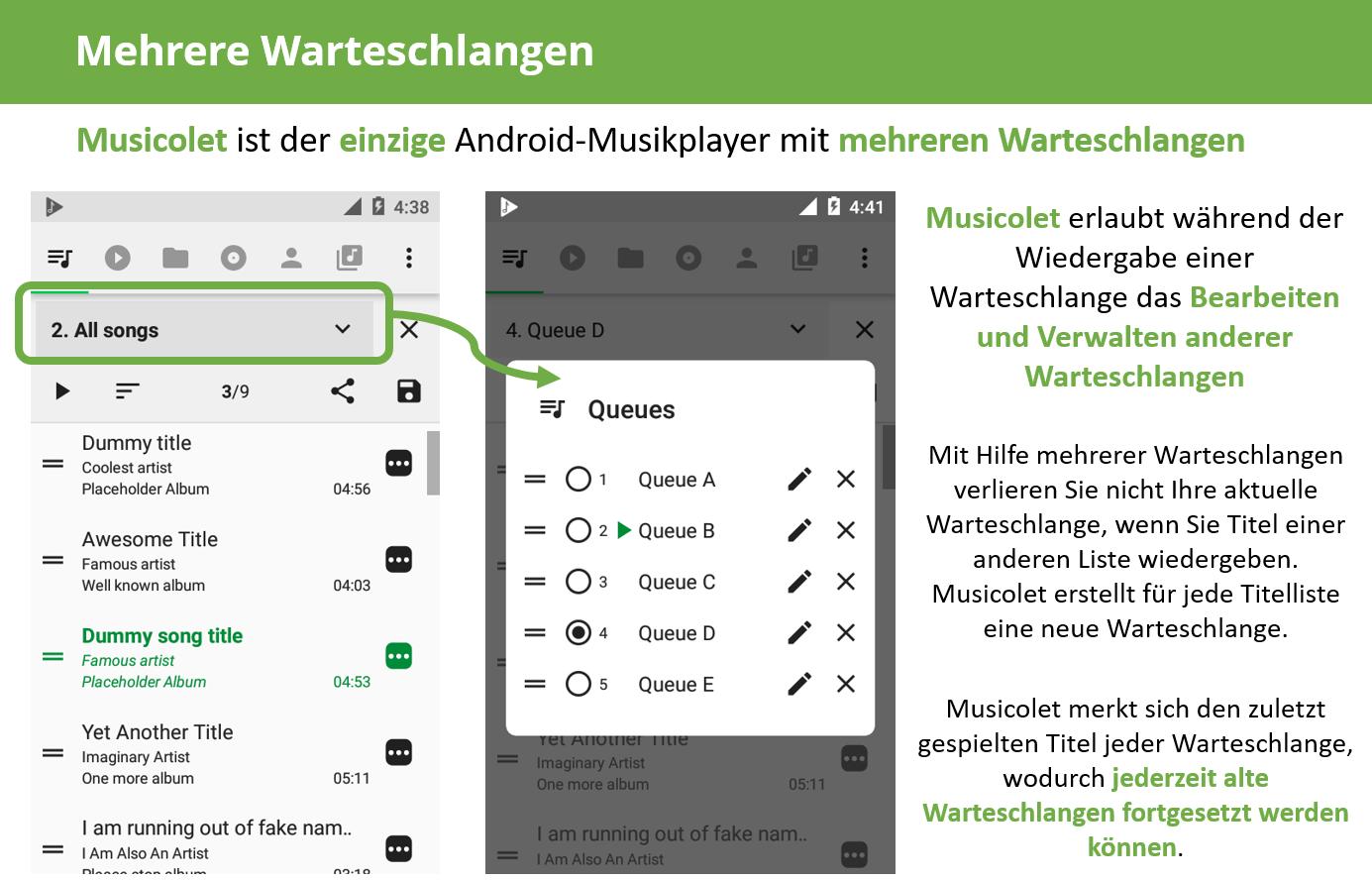 Screenshot Musik-Player-App Musicolet