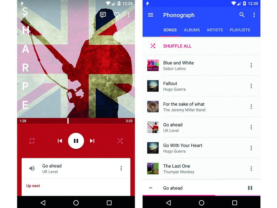 Screenshot Musik-Player-App Phonograph