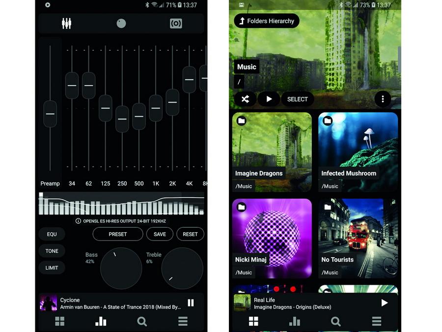 Screenshots Musik-Player-App Poweramp