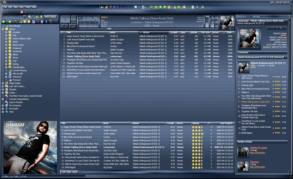 Screenshot MediaMonkey Audio-Player für den PC