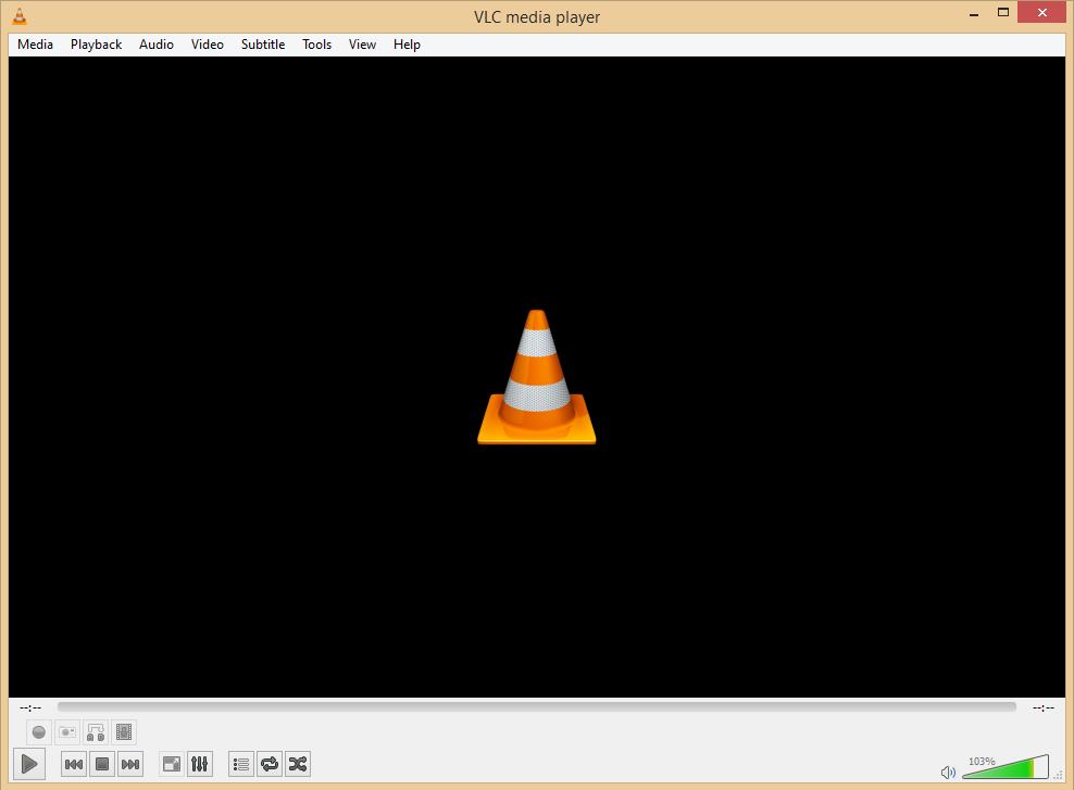 Screenshot VLC Audio-Player Software