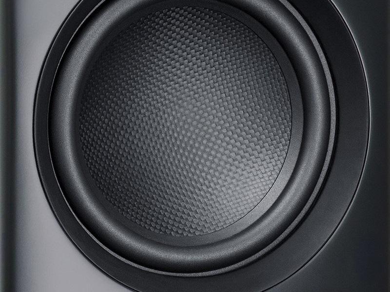 Nahaufnahme CFK-Membran des Lautsprechers DEFINION 3