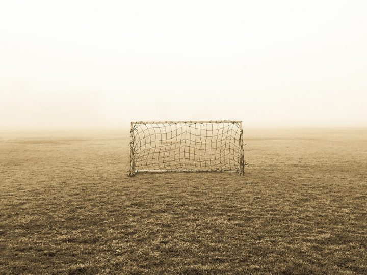 Verlassenes Fußball-Tor