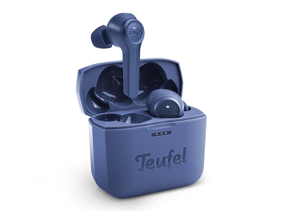 True WIreless In-Ear-Kopfhörer AIRY TRUE WIRELESS in Ladecase in Blau
