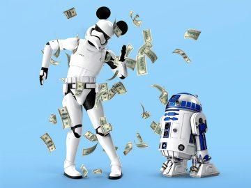 Star Wars Figuren im Geldregen