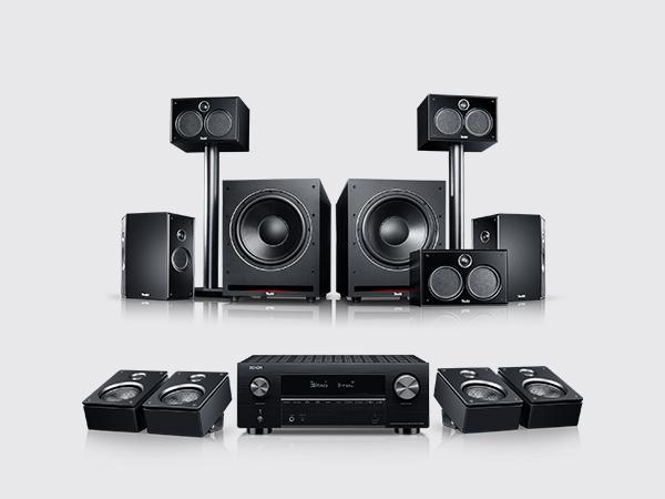 """System 6 THX AVR für Dolby Atmos """"5.2.4-Set"""" von Teufel"""