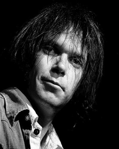 Junger Neil Young Porträt