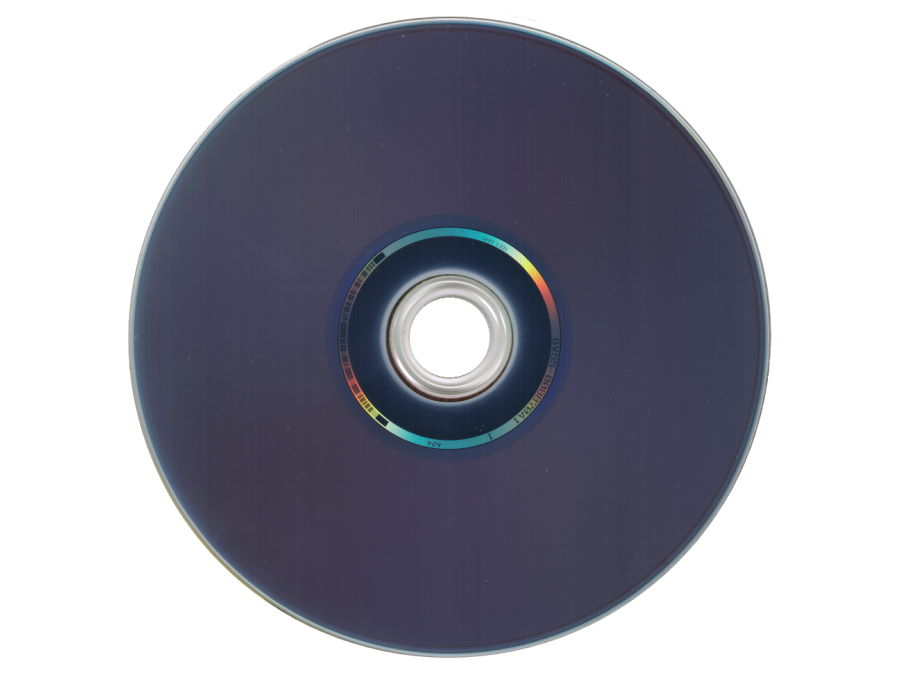 Rückseite einer Blu-ray-Disc
